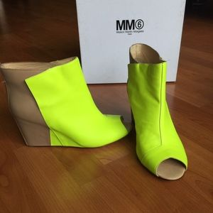 New Maison Martin Margiela Peep Toe Wedge Boot